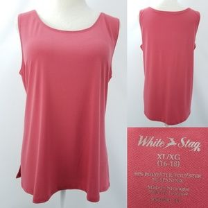 White Stag Rose Pink Sleeveless Stretch Top XL